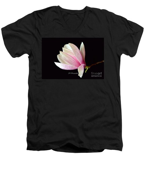 Welcome Spring Men's V-Neck T-Shirt by Jeannie Rhode