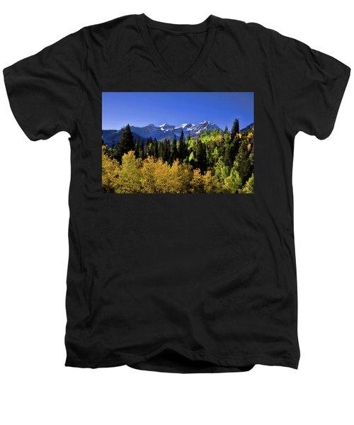 Autumn Splender Men's V-Neck T-Shirt