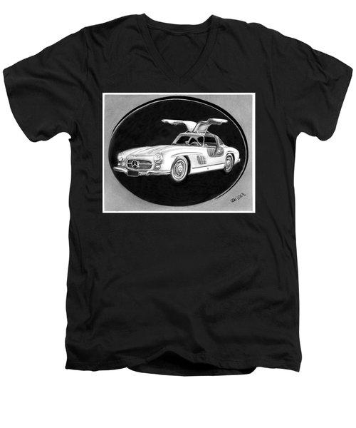 300 Sl Gullwing Men's V-Neck T-Shirt