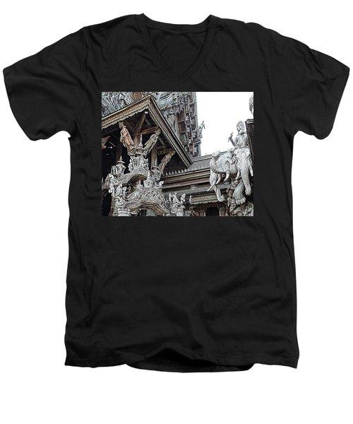 World Peace Activist Men's V-Neck T-Shirt by John Potts