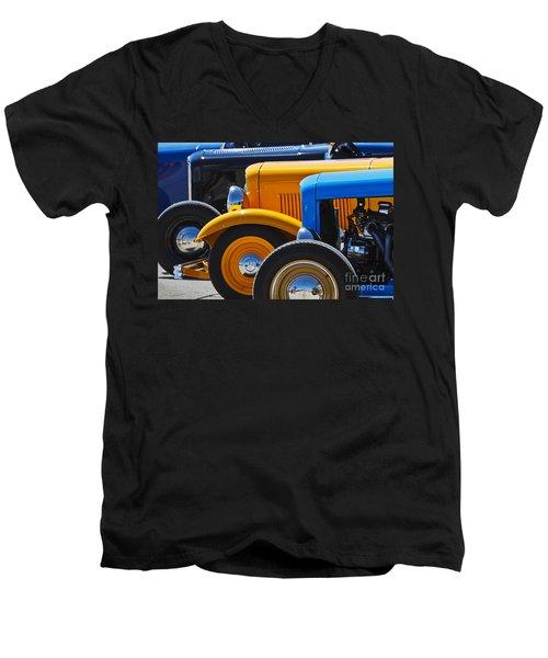 '32 X 3 Men's V-Neck T-Shirt by Dennis Hedberg