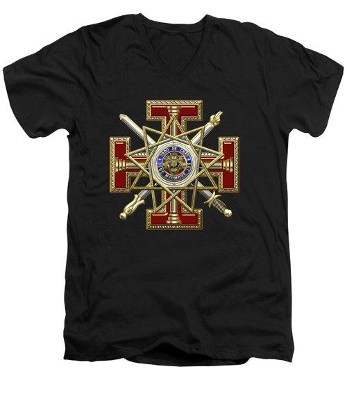 33rd Degree Mason - Inspector General Masonic Jewel  Men's V-Neck T-Shirt
