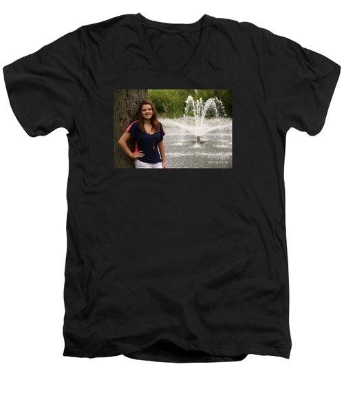 3445 Men's V-Neck T-Shirt by Mark J Seefeldt