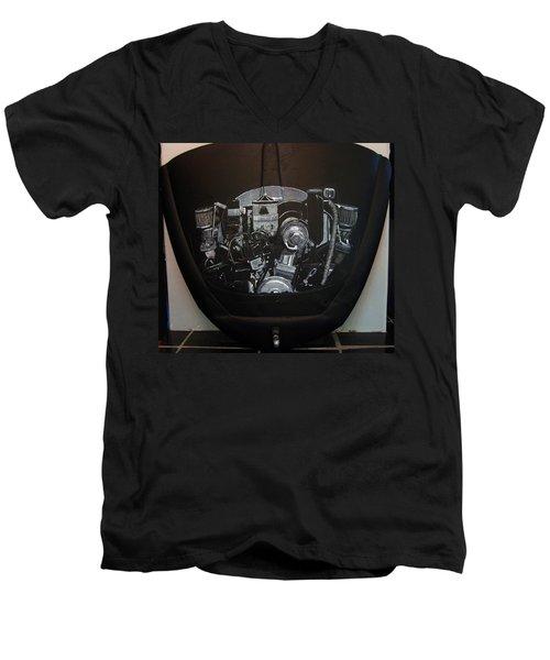 356 Porsche Engine On A Vw Cover Men's V-Neck T-Shirt