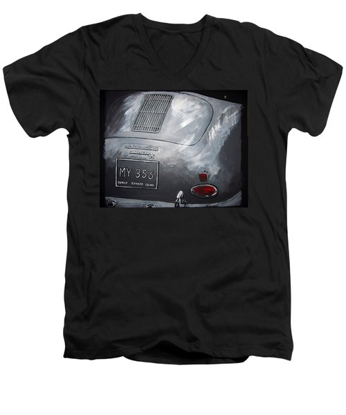356 Porsche Rear Men's V-Neck T-Shirt