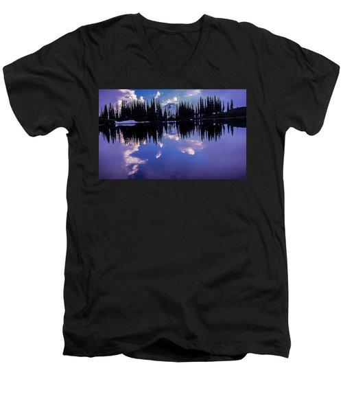 35mm Scan Of Image Lake And Glacier Peak Men's V-Neck T-Shirt