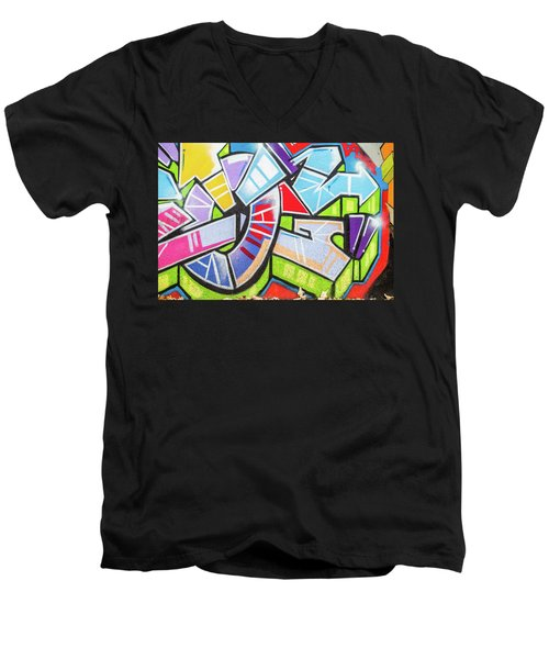Graffiti Men's V-Neck T-Shirt by Muhie Kanawati