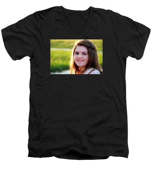 3751 Men's V-Neck T-Shirt by Mark J Seefeldt