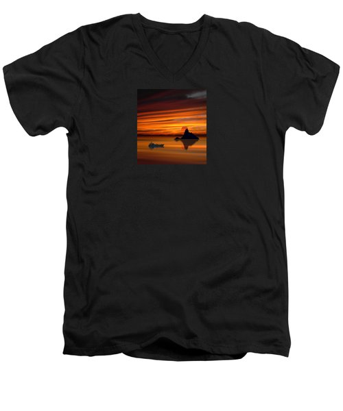 3971 Men's V-Neck T-Shirt by Peter Holme III