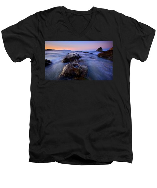 Men's V-Neck T-Shirt featuring the photograph Cape Kiwanda by Evgeny Vasenev