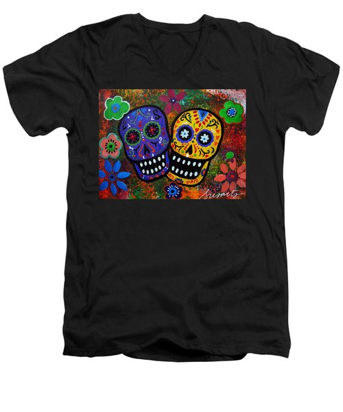 Couple Men's V-Neck T-Shirt