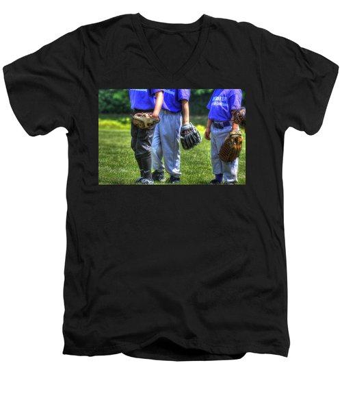 4 Gloves 1594 Men's V-Neck T-Shirt by Jerry Sodorff
