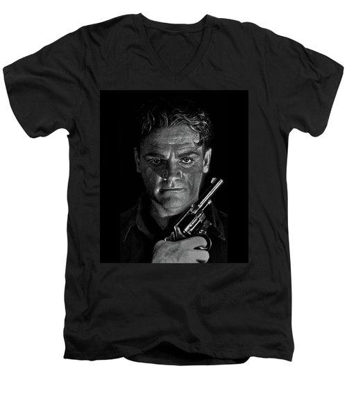 James Cagney - A Study Men's V-Neck T-Shirt