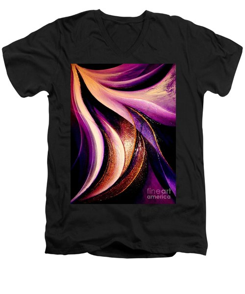 Light Dance Men's V-Neck T-Shirt