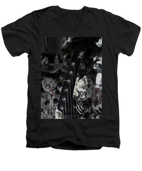 Parker Fly Guitar Headstock Men's V-Neck T-Shirt