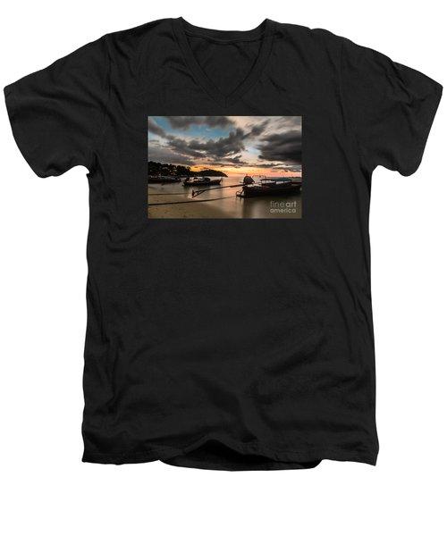 Sunset Over Koh Lipe Men's V-Neck T-Shirt