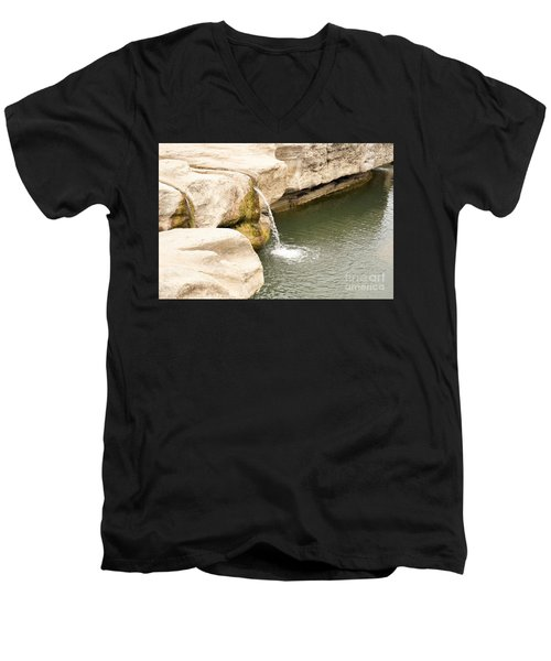 Men's V-Neck T-Shirt featuring the photograph Texas - Mckinney Falls State Park  by Ray Shrewsberry