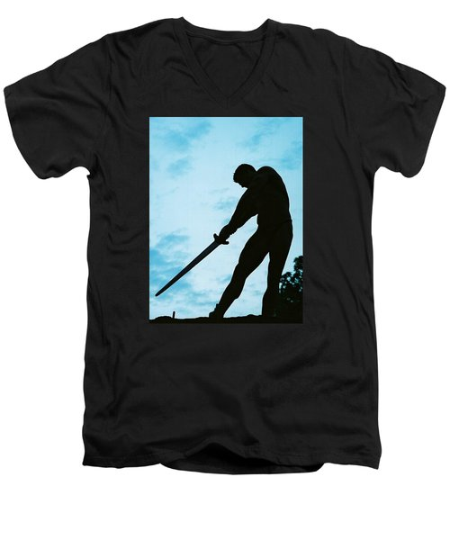 Men's V-Neck T-Shirt featuring the photograph The Gladiator by Jake Hartz