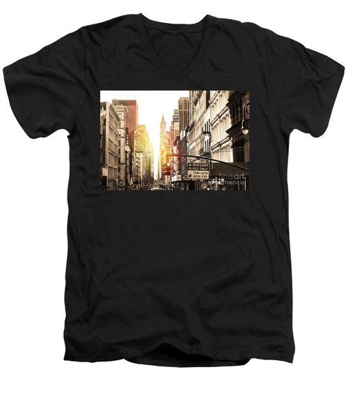 401 Broadway Men's V-Neck T-Shirt
