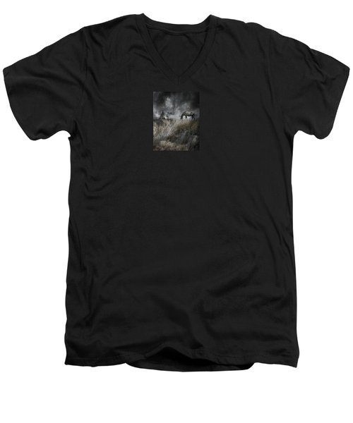 4099 Men's V-Neck T-Shirt by Peter Holme III