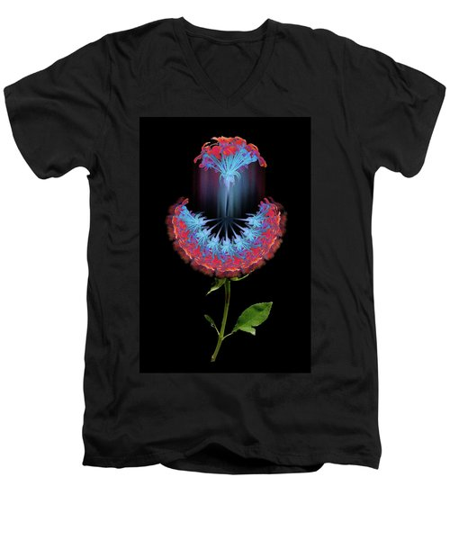 Men's V-Neck T-Shirt featuring the photograph 4389 by Peter Holme III