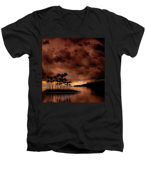 Men's V-Neck T-Shirt featuring the photograph 4401 by Peter Holme III