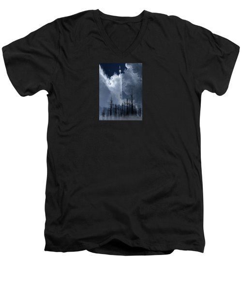 Men's V-Neck T-Shirt featuring the photograph 4404 by Peter Holme III