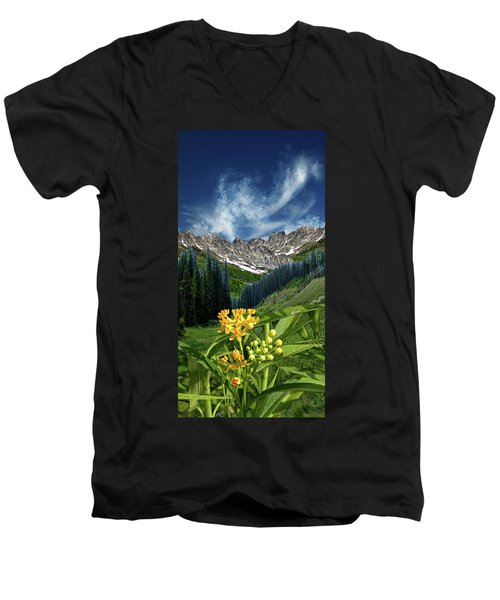 Men's V-Neck T-Shirt featuring the photograph 4415 by Peter Holme III