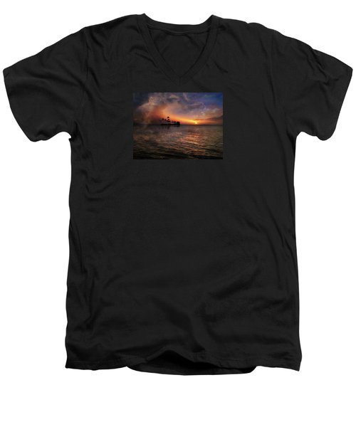 Men's V-Neck T-Shirt featuring the photograph 4419 by Peter Holme III