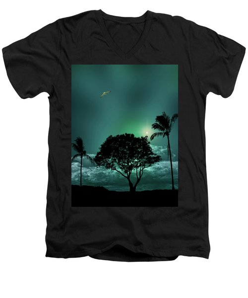 Men's V-Neck T-Shirt featuring the photograph 4420 by Peter Holme III