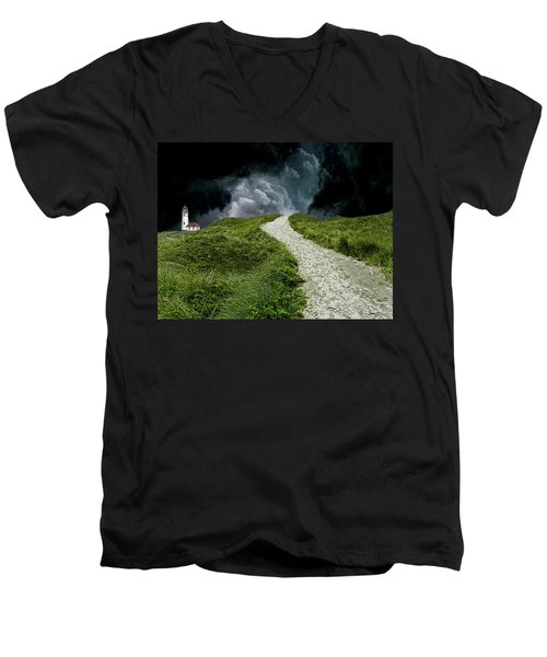 Men's V-Neck T-Shirt featuring the photograph 4495 by Peter Holme III