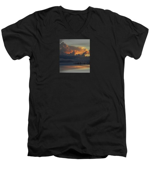 Men's V-Neck T-Shirt featuring the photograph 4500 by Peter Holme III
