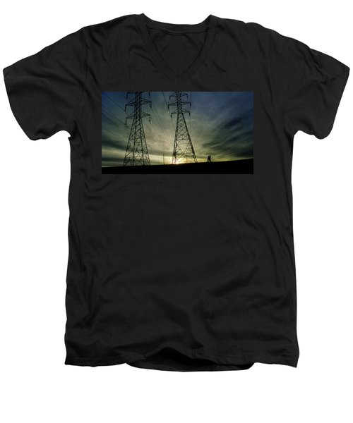 Men's V-Neck T-Shirt featuring the photograph 4502 by Peter Holme III