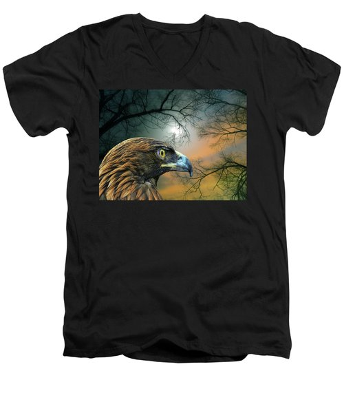 Men's V-Neck T-Shirt featuring the photograph 4506 by Peter Holme III