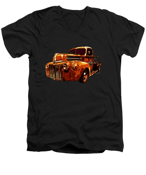 46 Ford Flatbed Redux From The Laboratories At Vivachas Men's V-Neck T-Shirt