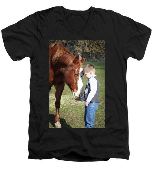 47 Men's V-Neck T-Shirt by Diane Bohna