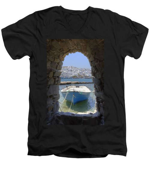 Paros - Cyclades - Greece Men's V-Neck T-Shirt