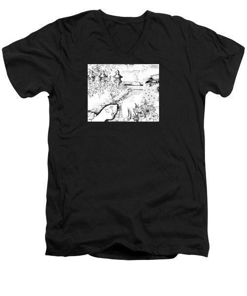 5.27.japan-6-detail-b Men's V-Neck T-Shirt