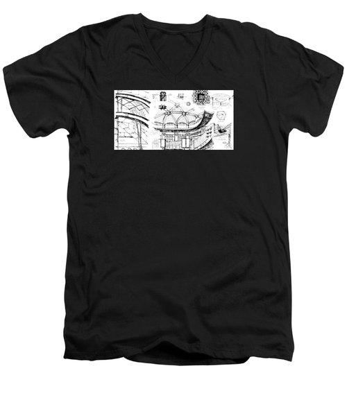 5.40.japan-9-detail-b Men's V-Neck T-Shirt
