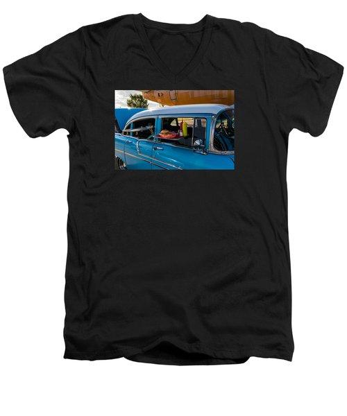 56 Chevy Men's V-Neck T-Shirt by Jay Stockhaus