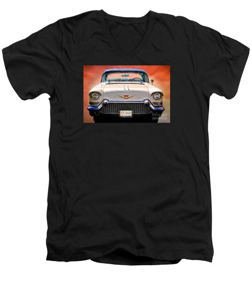 57 Caddy Men's V-Neck T-Shirt by Suzanne Handel