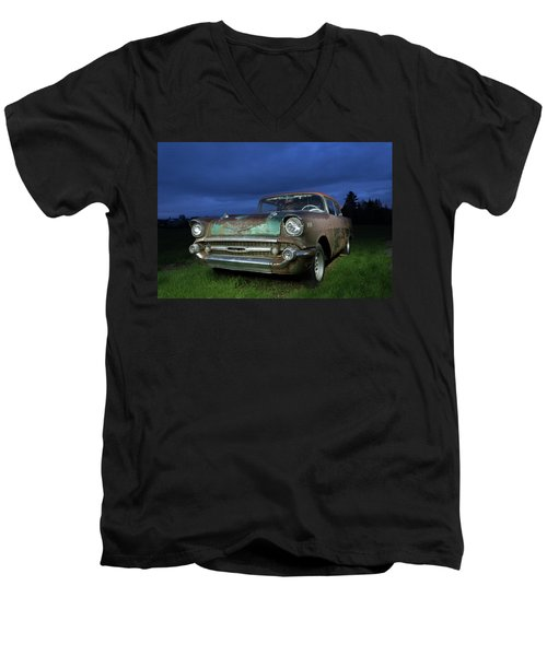 57' Chevrolet Men's V-Neck T-Shirt