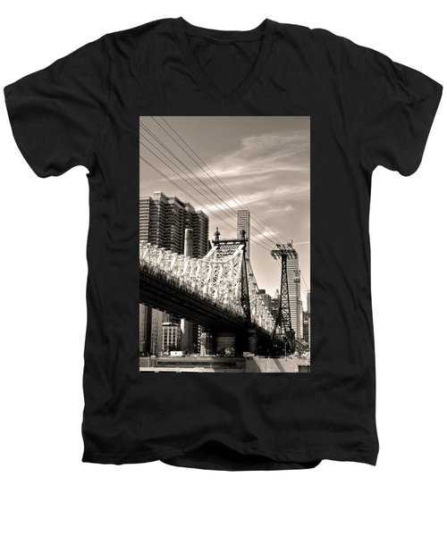 59th Street Bridge No. 4-1 Men's V-Neck T-Shirt