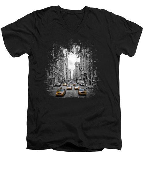 5th Avenue Nyc Traffic II Men's V-Neck T-Shirt