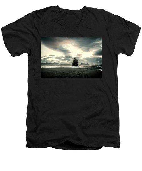 Dinosaur Rock Beach In Iceland Men's V-Neck T-Shirt