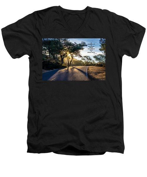 Lao Tzu Quote Men's V-Neck T-Shirt