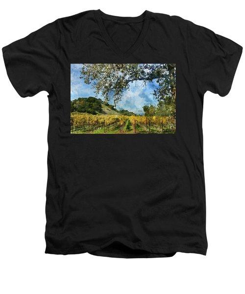 Vineyard In Napa Valley California Men's V-Neck T-Shirt