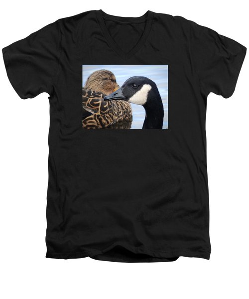 Men's V-Neck T-Shirt featuring the photograph Gaze by Zinvolle Art