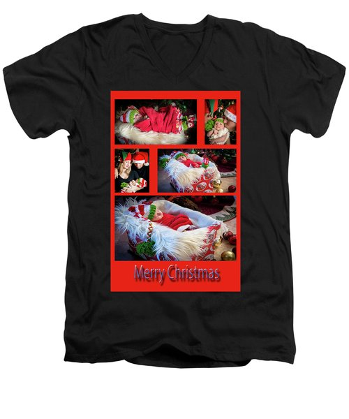 Merry Christmas Men's V-Neck T-Shirt by Ivete Basso Photography
