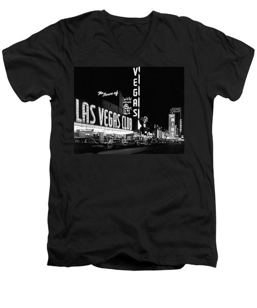 The Las Vegas Strip Men's V-Neck T-Shirt